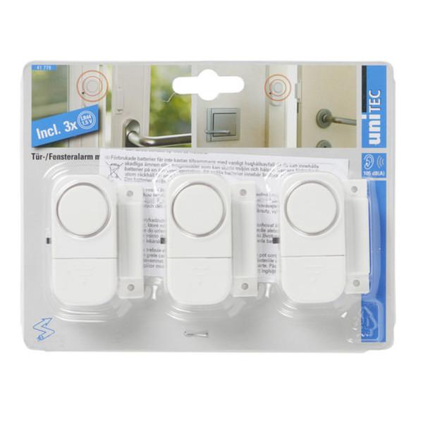 uniTec Tür-/Fensteralarm mit Magnetkontakt in Weiß