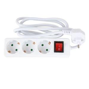 3-fach Steckdosenleiste mit Schalter