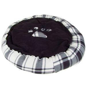 Hundebett rund mit Pfoten-Aufdruck Größe L 75cm