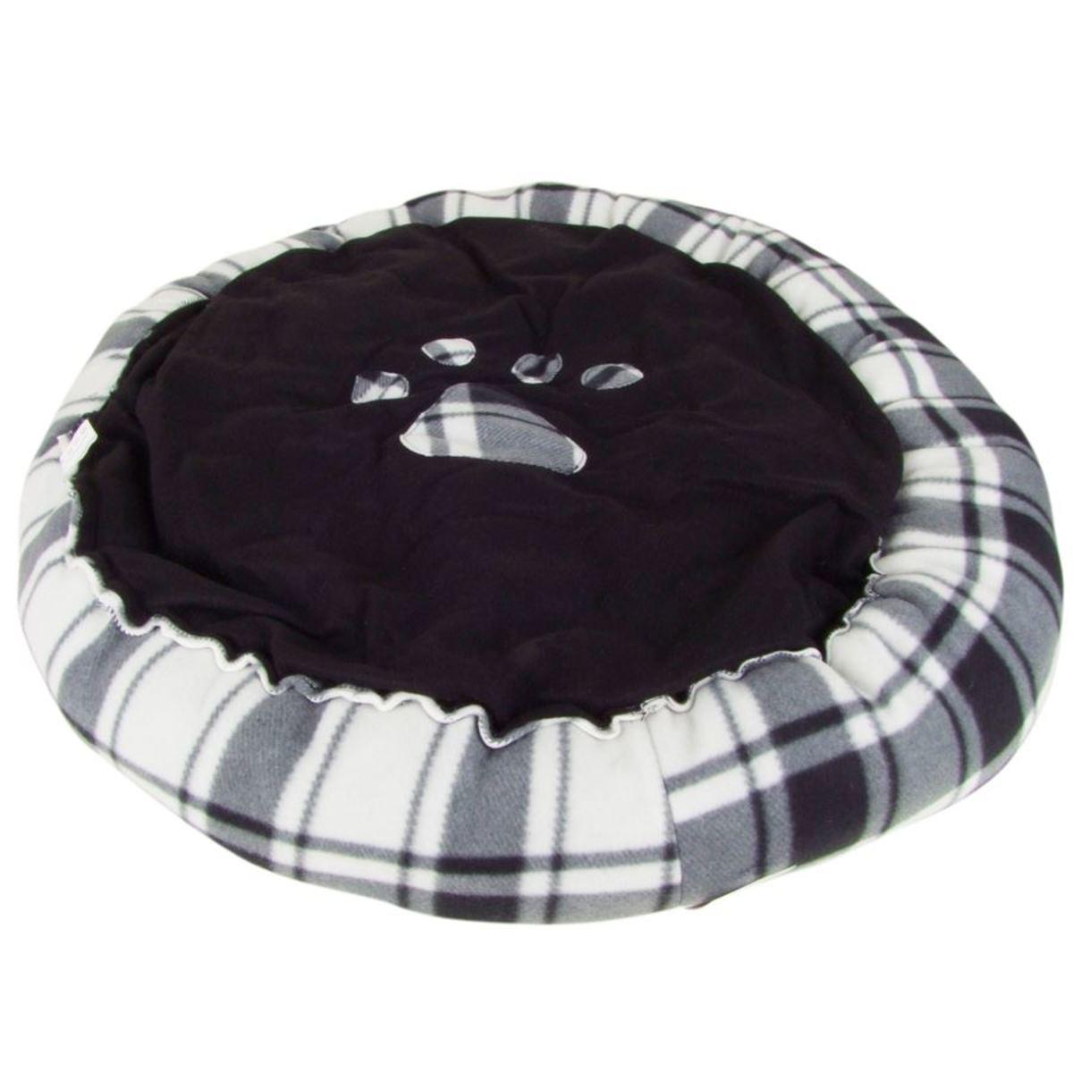 Bild 1 von Hundebett rund mit Pfoten-Aufdruck Größe L 75cm