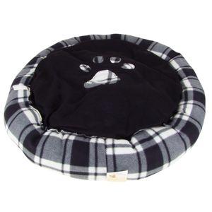 Hundebett rund mit Pfoten-Aufdruck Größe M 70cm