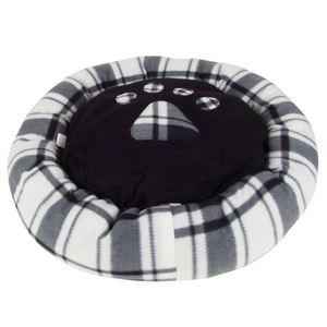 Hundebett rund mit Pfoten-Aufdruck Größe S 60cm