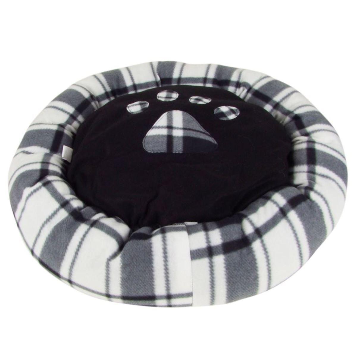 Bild 1 von Hundebett rund mit Pfoten-Aufdruck Größe S 60cm