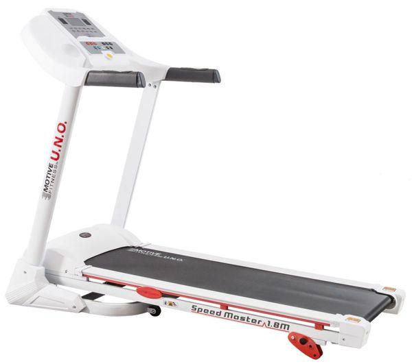Motive Fitness by U.N.O. Laufband Speed Master 1.8M weiß/silber
