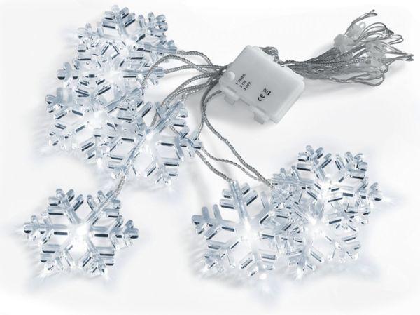 Netto Weihnachtsbeleuchtung.Led Lichtervorhang Schneeflocke