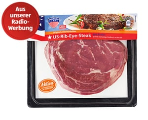AMERICAN US-Rib-Eye-Steak oder Rumpsteak