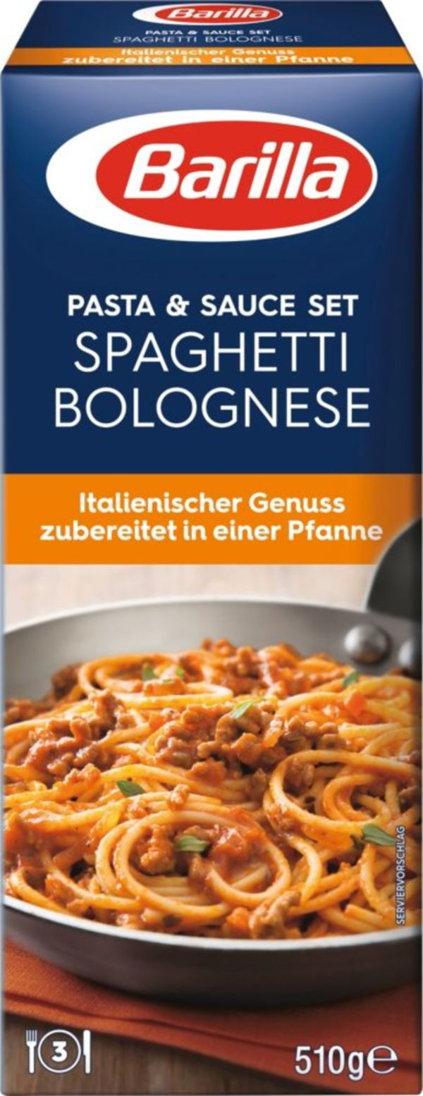 Barilla Pasta & Sauce Set für Spaghetti Bolognese