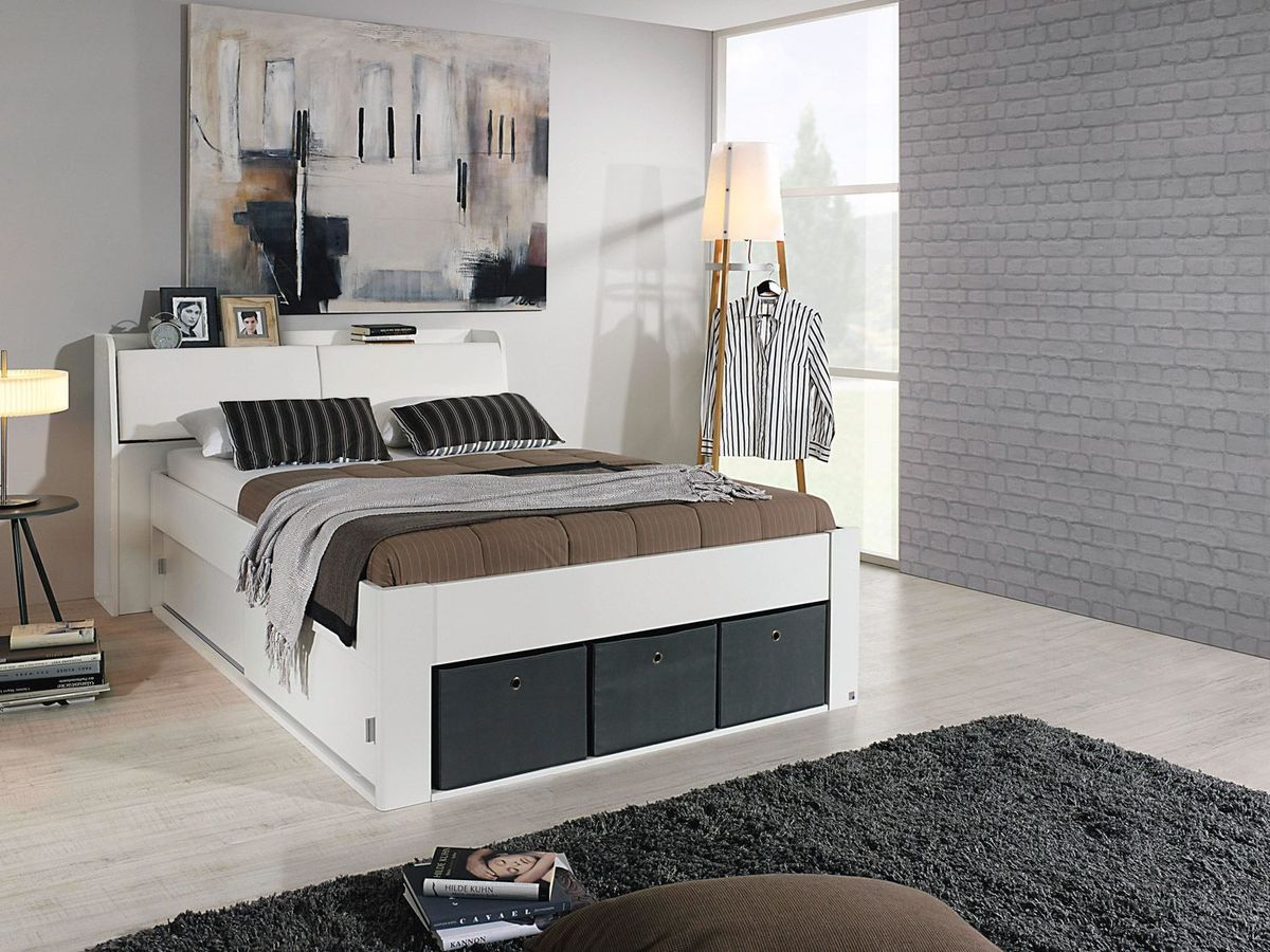 Bild 4 von Rauch Bett Rostock mit Stauraum-Kopfteil,Bettkasten und Stoffboxen