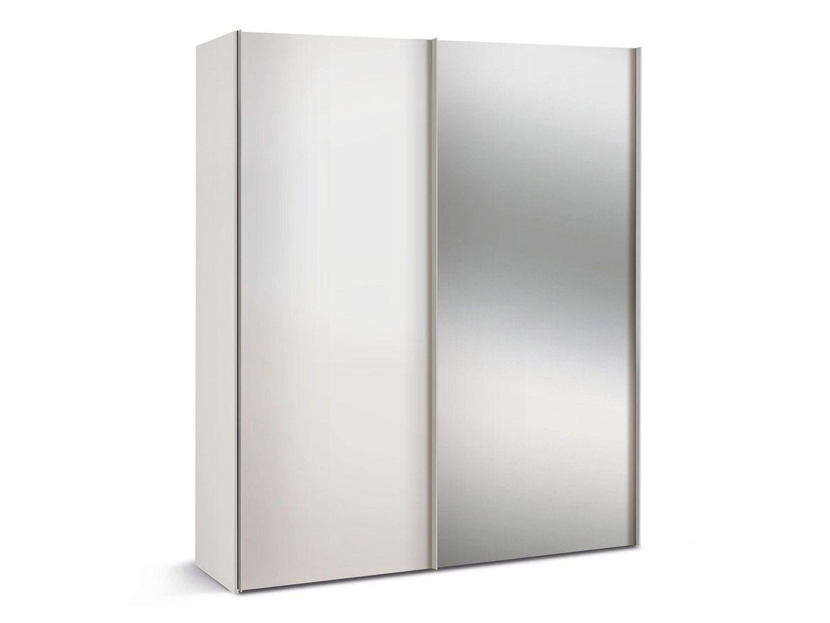 Bild 1 von Express Möbel Schwebetürenschrank Paris 2-türig, Weiß mit Spiegel