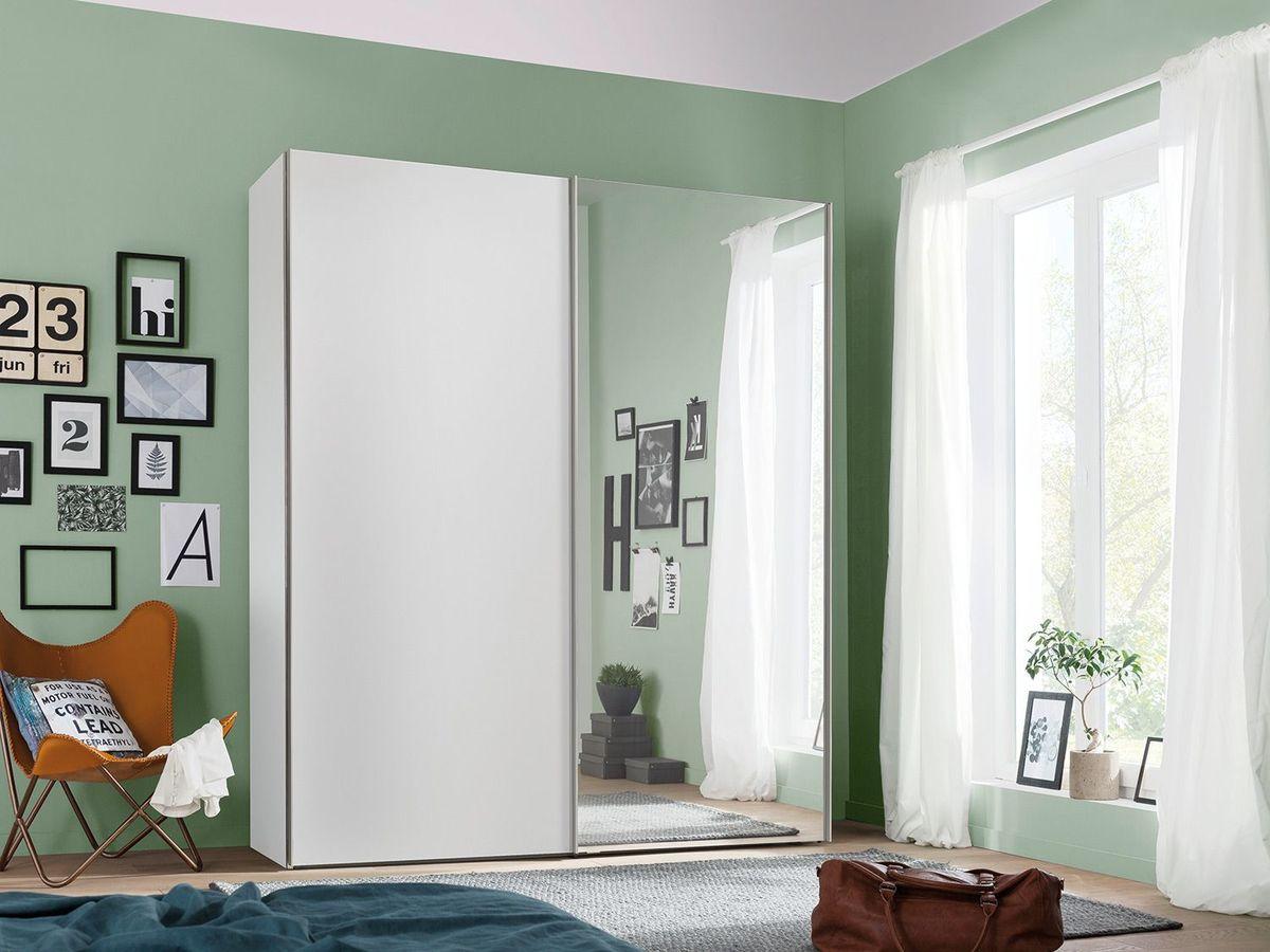 Bild 2 von Express Möbel Schwebetürenschrank Paris 2-türig, Weiß mit Spiegel