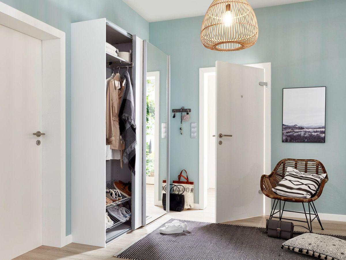 Bild 3 von Express Möbel Schwebetürenschrank Paris 2-türig, Weiß mit Spiegel