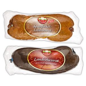Gut Bartenhof Spanferkel-Leberwurst / Landrotwurst