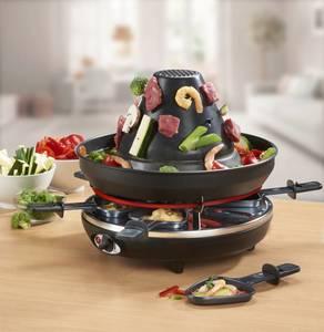 Raclette/Tartarengrill 3in1 mit Fonduering, 8-teilig