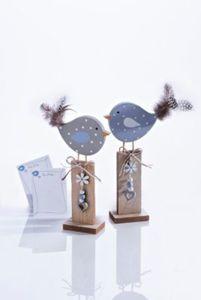"Dekovögel ""Frida und Fips"", 2er Set"