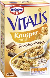 Dr.Oetker Vitalis Knusper Schoko + Keks Müsli 450 g