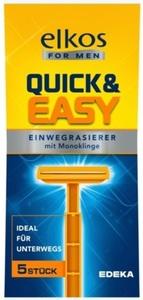 elkos for MEN Quick & Easy Einwegrasierer 5 Stk