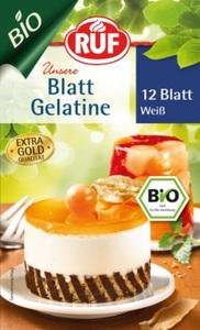 Ruf Bio Blattgelatine weiß 12 Blatt 20 g
