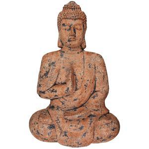 Wanddeko Buddha Schwarz/braun