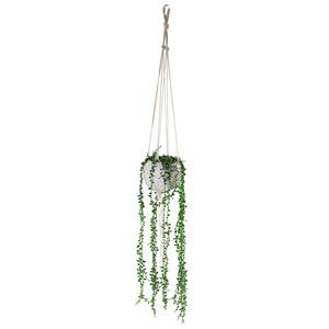 Hängende Kunstpflanze im Topf (Blumenampel)