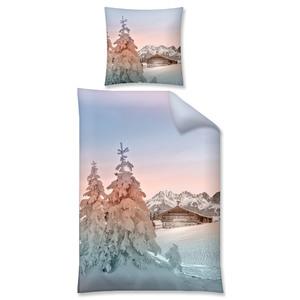 Biber-Bettwäsche Winter Alm (135x200)