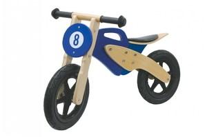 Jamara Holz-Laufrad Moto blau