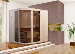 Weka Element-Designsauna Sara 1 Set 1 ,  mit Ofen 7,5 kW, Ganzglastür, 2 Fenster