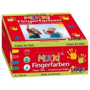 MUCKI Fingermalfarbe 4er