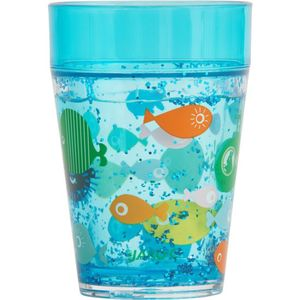 Glitzerbecher-Set Fische, 2-teilig
