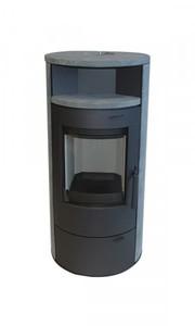 TrendLine Dauerbrandofen Vento Naturstein ,  7 kW, schwarz