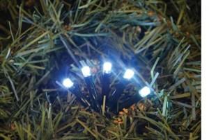 TrendLine LED Lichterkette 100 LED, weiß, für Außen und innen