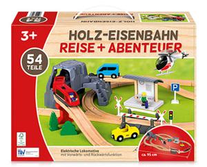 Holzeisenbahn oder Holzautobahn