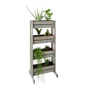 XXXL Vertikales Blumenbeet Holz, Grau