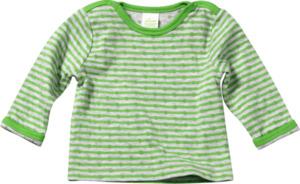 ALANA Baby-Sweatshirt, Gr. 62, in Bio-Baumwolle, grün, grau, für Mädchen und Jungen