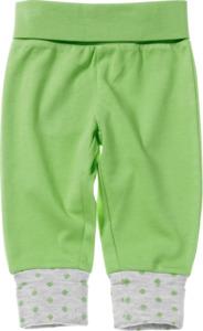 ALANA Baby-Sweathose, Gr. 62, in Bio-Baumwolle, grün, grau, für Mädchen und Jungen