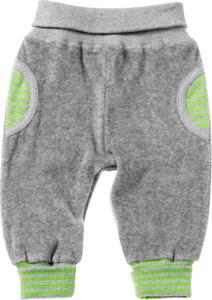 ALANA Baby-Frotteehose, Gr. 74, in Bio-Baumwolle, grau, grün, für Mädchen und Jungen