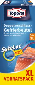 Toppits Doppelverschluss-Gefrierbeutel 1L XL
