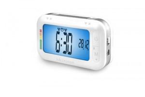 Medisana Oberarm Blutdruckmessgerät BU 575 ,  mit Reisewecker,  grau/weiß
