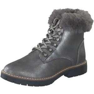 Studio London Schnür Boots Damen silber