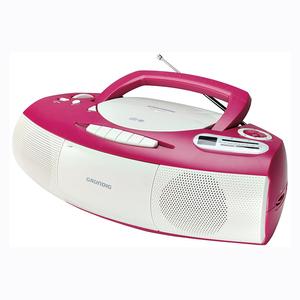 Grundig RRCD 1400 - Pink/White [Design Radio, CD/MP3-Player, Kassettenrekorder]