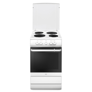 Amica SHE 11546 W Weiß Elektro-Standherd, Kochplatten, 50cm