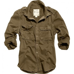 Surplus            1/1 Raw Vintage Shirt Slim Fit braun S