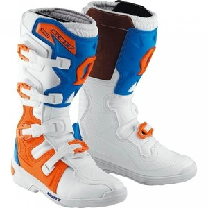 Scott            350 MX Cross Stiefel weiß/blau/orange 44