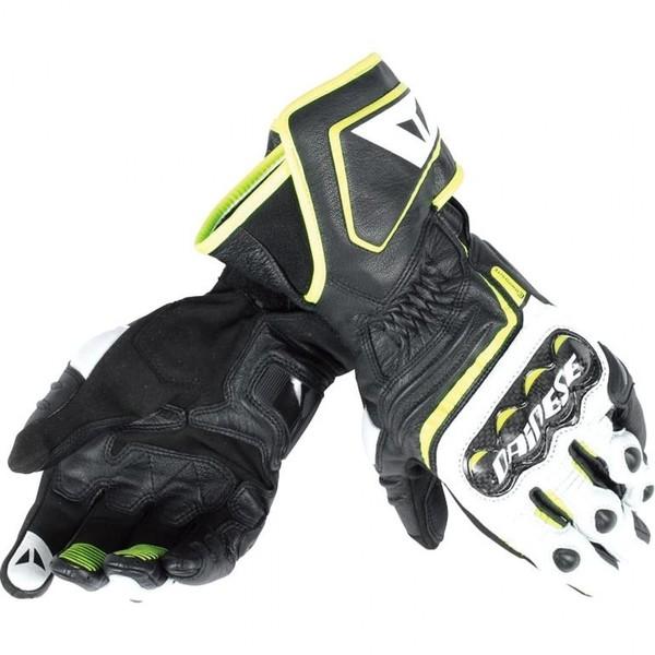 Dainese            Carbon D1 Lederhandschuh lang schwarz/gelb
