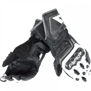 Dainese            Carbon D1 Lederhandschuh lang schwarz/weiß/anthrazit