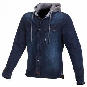 Macna            Westcoat Jeansjacke mit Kapuze dunkelblau