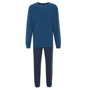SCHIESSER             Schlafanzug, lang, Baumwolle, gestreift, Gummibund