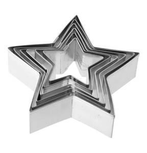 """Dr. Oetker             Ausstecher """"Sterne"""", Weißblech, für Terrassenkekse geeignet, 6-teilig"""