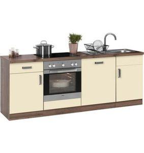 Wiho Küchen Küchenzeile mit E-Geräten »Tacoma«, Breite 220 cm
