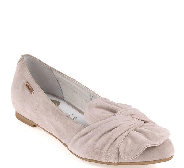 Details zu Bugatti Damen Ballerinas Jenna Revo Grau Leder in der Gr.37