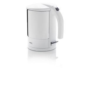 Petra (electric) Wasserkocher, WK 288, Edelstahl/Kunststoff, innenliegende Wasserstandsanzeige, 1.800 W, 1,7 l, weiß/edelstahl